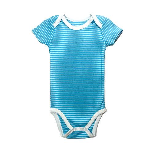 Aqua Fine Stripe Bodysuit