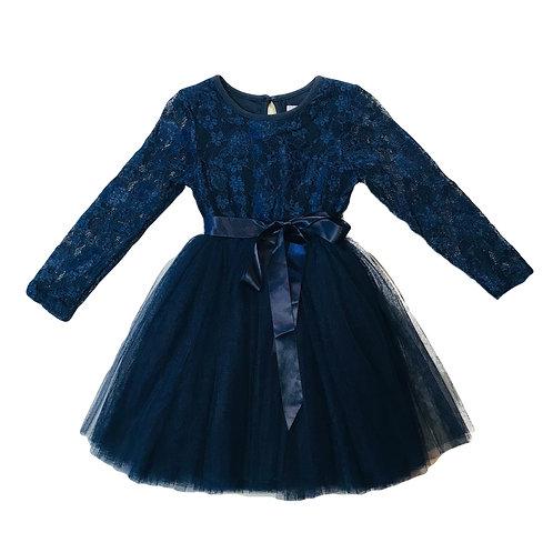 Navy Lace Tutu Dress