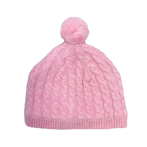 Pink Cable Beanie