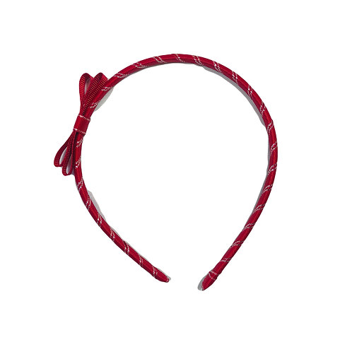 Red Bow Aliceband