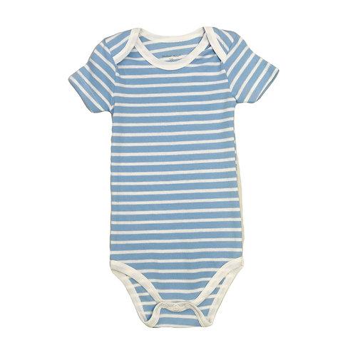 Blue Wide Stripe Bodysuit