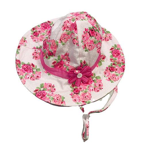 Pink Flower Sun Hat