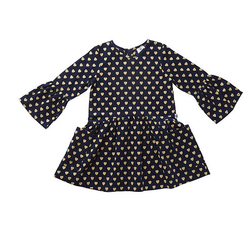 Navy Hearts Dress