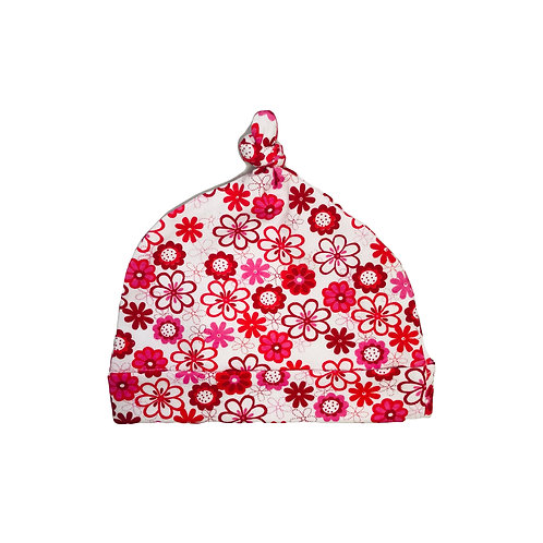 Red Floral Beanie