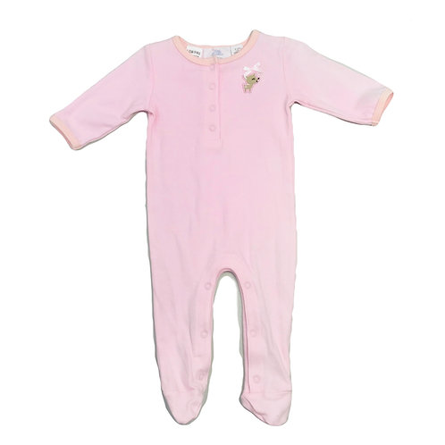 Pink Footed Romper