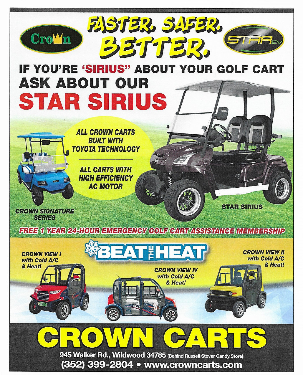 2020 Crown Carts Golf Cart With Air Cond