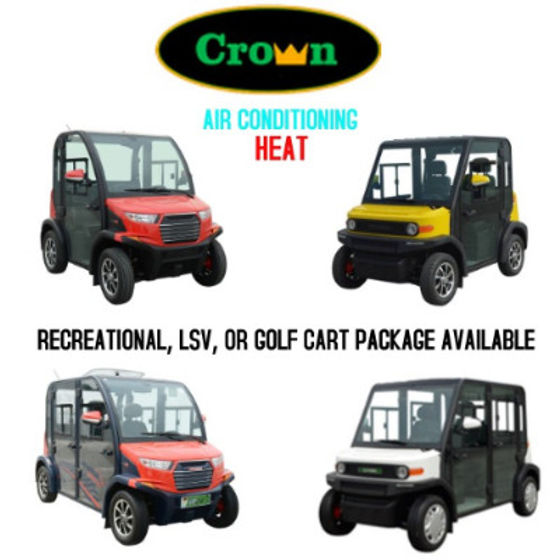 Crown View II Golf Cart With Air Conditioning