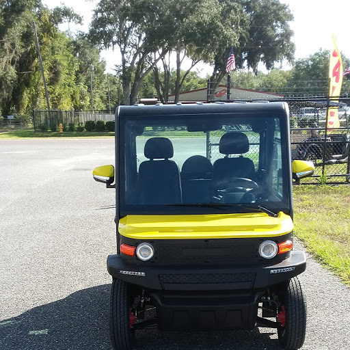 Yellow Crown View Villages Golf Cart for