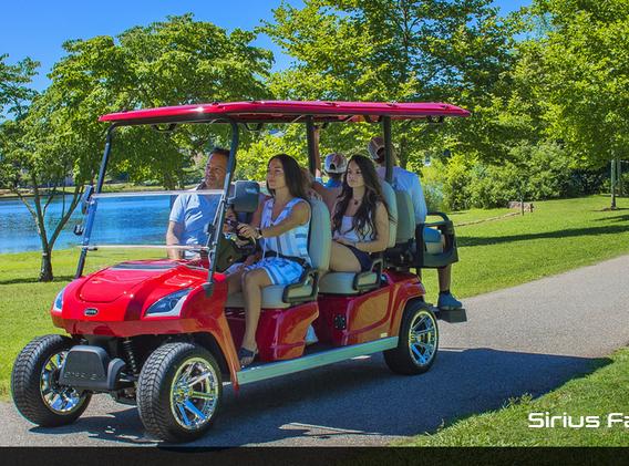 Sirius golf cart fun crown carts star si