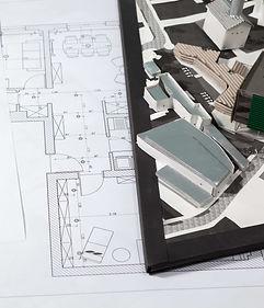 building-blueprints-on-an-architect-tabl