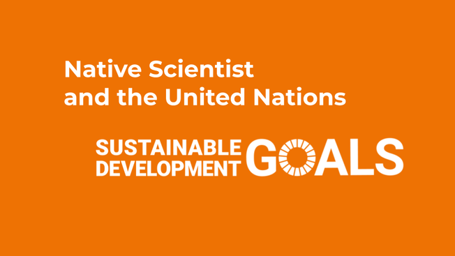 Native Scientist and the UN Sustainable Development Goals