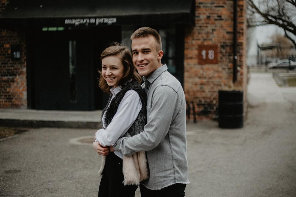 Angelika + Paweł | Narzeczeńskie przedwiośnie na SOHO