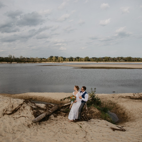 Estera i Paweł | Plener poślubny nad Wisłą / Ciszyca