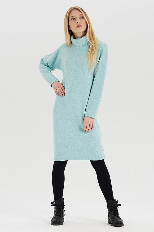 Арт.15024 Платье из шерсти, светло-зеленый