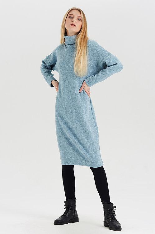 Арт.15026 Платье из шерсти, голубой