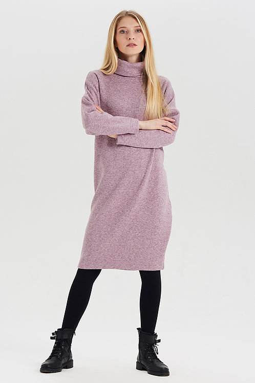 Арт.15025 Платье из шерсти, сиреневый