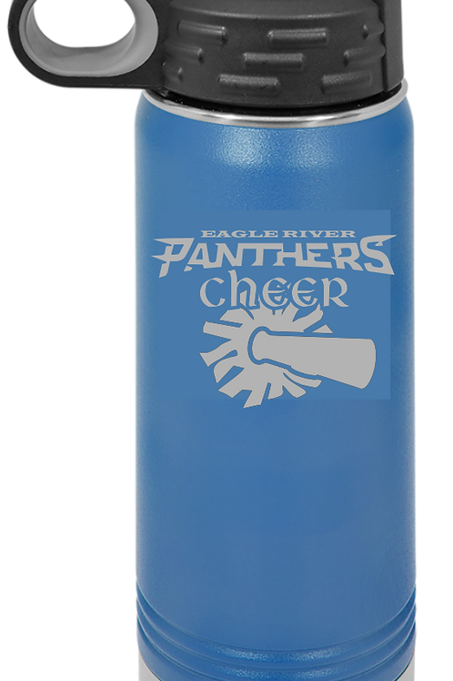 Panther Cheer 32 oz Water Bottle
