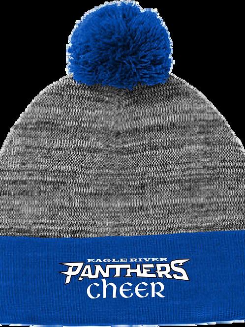 Panther Cheer Heather Pom Pom Beanie