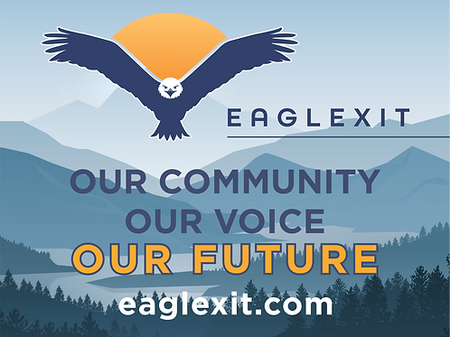EAGLEXIT Yard Sign with Stake