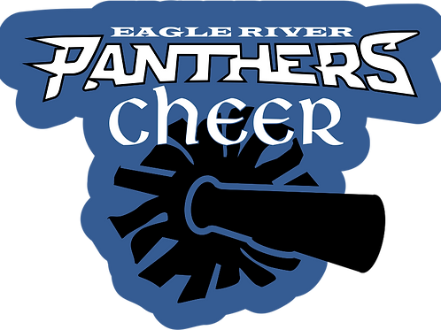 Panther Cheer Full Color Decal
