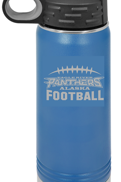 Panther Football 32 oz Water Bottle