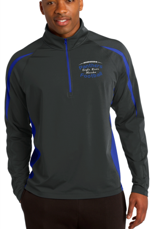 Panthers Coach Adult 1/2 Zip Pullover