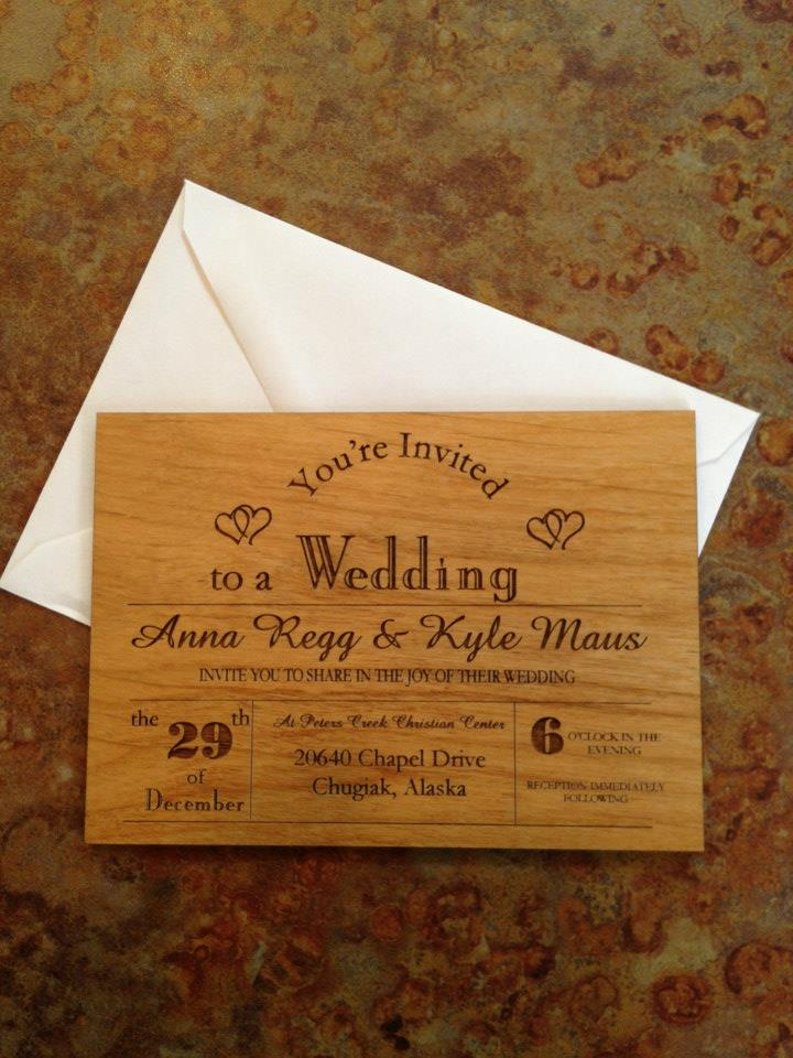 Custom Wooden Invitation