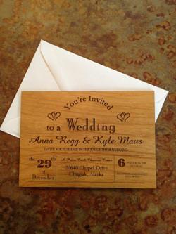 Custom Wooden Invitation