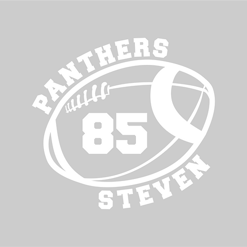 Panther Football Window Decal