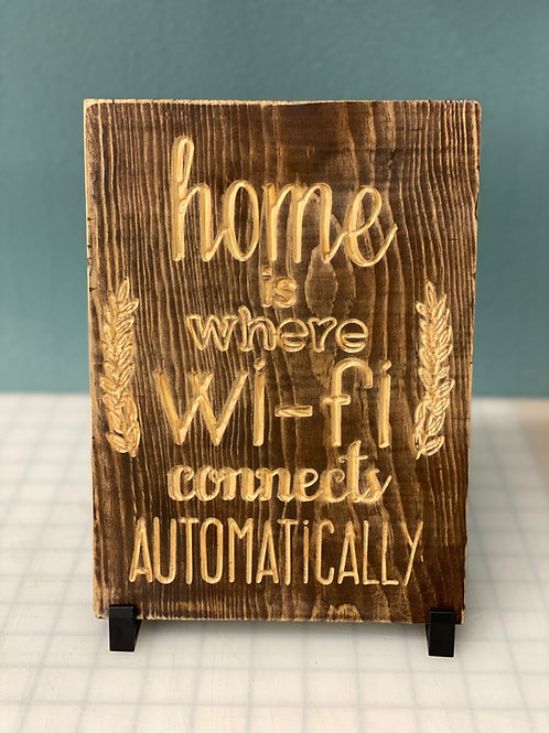 Wifi Sign Ak Pallet Sign **Item available for PICK UP ONLY**