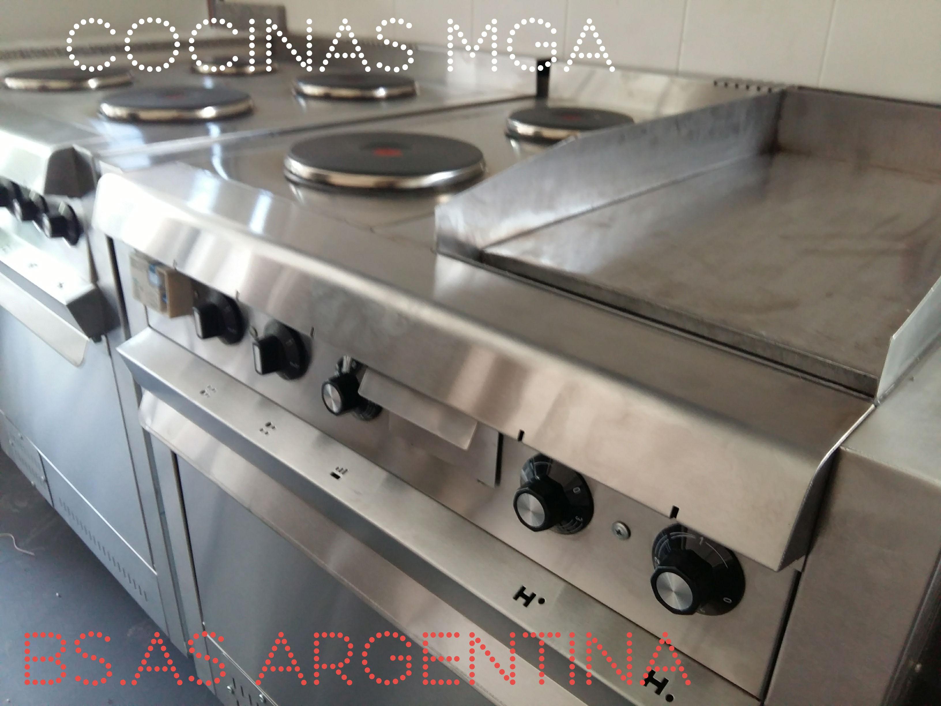 Cocina industrial eléctrica nacional fábricainoxidable.com.ar - Equipos para cocina eléctricos