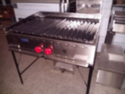 Parrilla economica a gas natural acero inoxidable food trucks hamburguesera