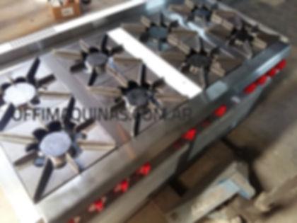 Cocina industrial OFFI 8 hornallas dos hornos inoxidable fabrica
