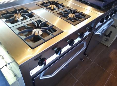 Oferta cocina outlet 80cm para tu casa quincho acero inoxidable horno pizzero