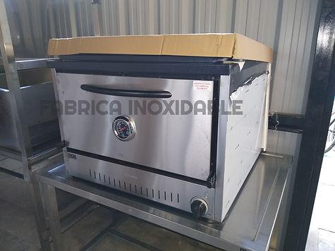 Fábrica de hornos pizzeros 12 moldes acero inoxidable comerciales con valvula de seguridad