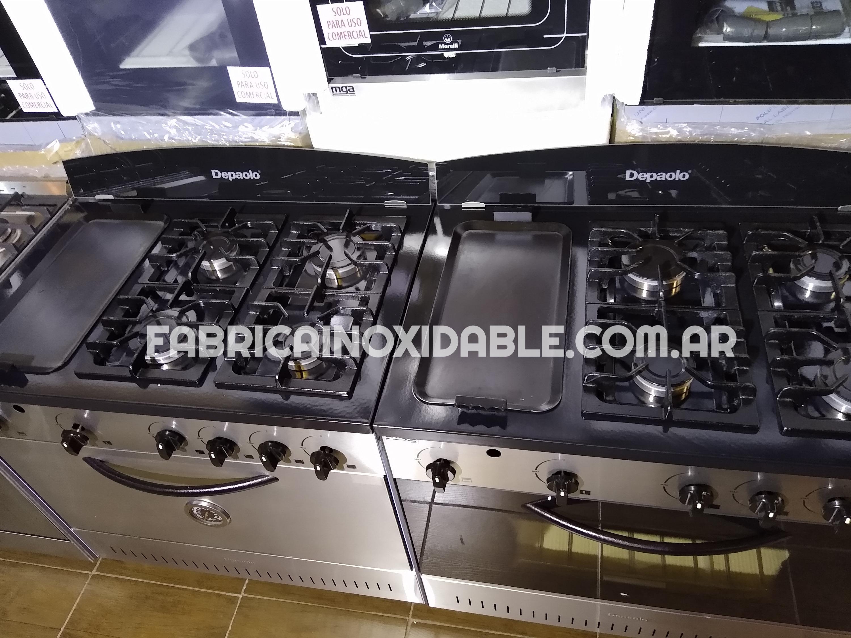 Cocinas industriales con plancha bifera lisa hierro hornallas horno quincho lechon planchetta