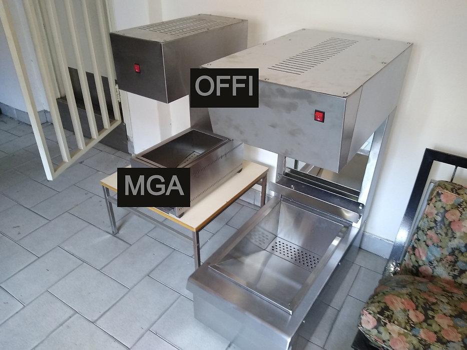 Secado y mantenedor de papas fritas temperatura calentador escurridor aceite gastronomia MGA