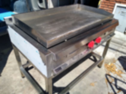 anafe industrial plancha lisa acero inoxidable pulgada reforzado hamburguesas pescados