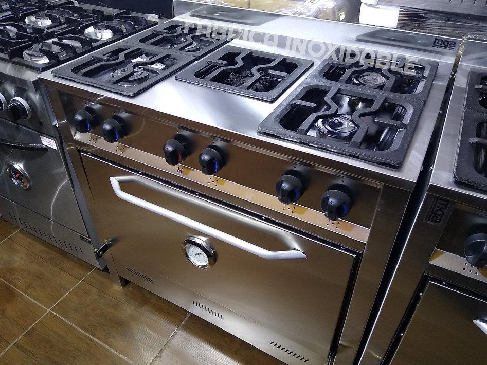 Fábrica de cocinas industriales economicas de acero inoxidable 5 hornallas