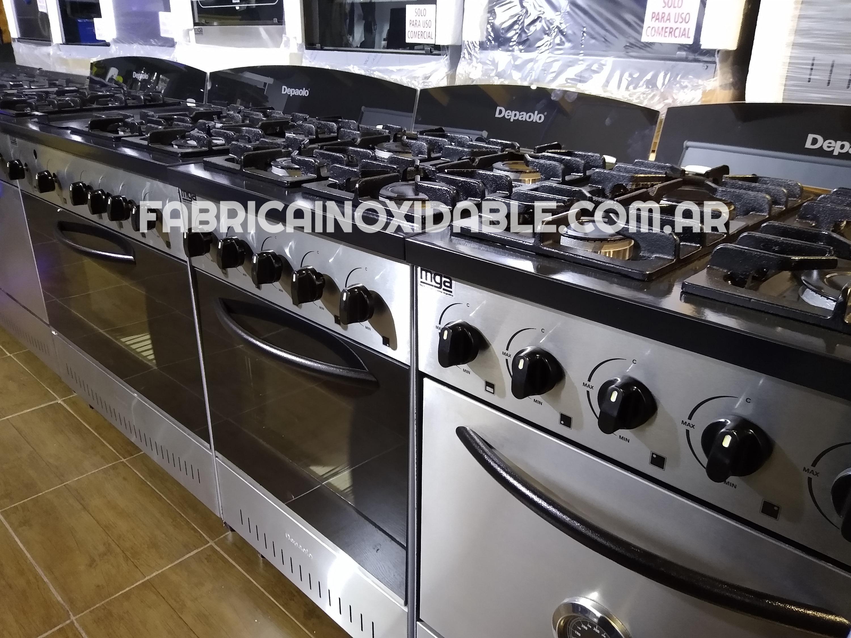 Fábrica de cocinas industriales modernas acero inoxidable robustas con horno ladrillos tejuelas refractarias