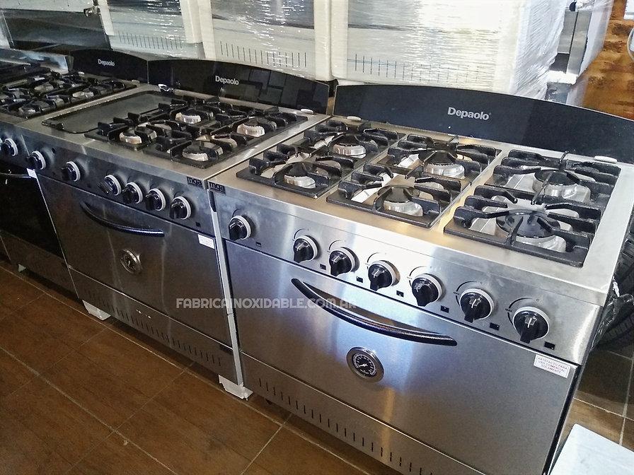 Fábrica de cocinas industriales 6 hornallas depaolo fundicion de hierro acero inoxidable