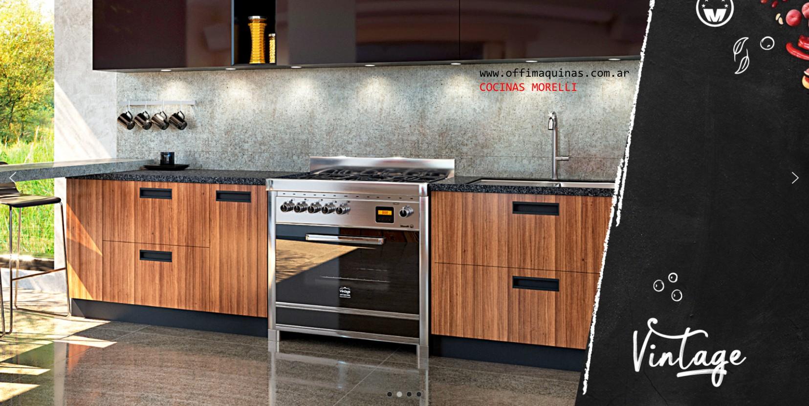 Cocinas semi industriales Morelli Vintage todos los modelos en Showroom Ituzaingó centro Coronel Domingo Trole 1191