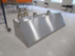 Campana gabinete acero inoxidable con salidas exteriores motor filtros escuelas cocinas industriales trabajos a medida