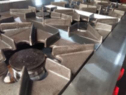 Anafe industrial hornallas fuegos ollas cacerolas colegios escuelas