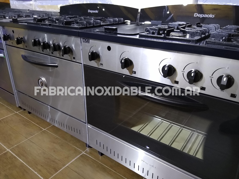 Fábrica de cocinas industriales acero inoxidable con plancha doble hierro planchetta profesional
