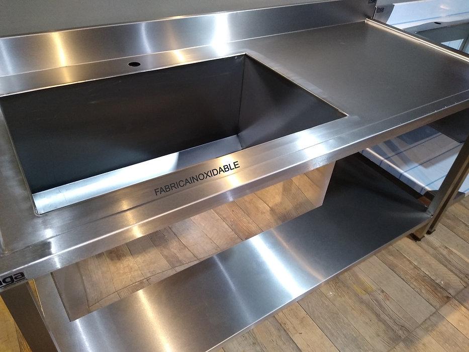 Fábrica de mesas acero inoxidable para gastronomia bachas piletones profundos MUEBLESPARACOCINA.NET