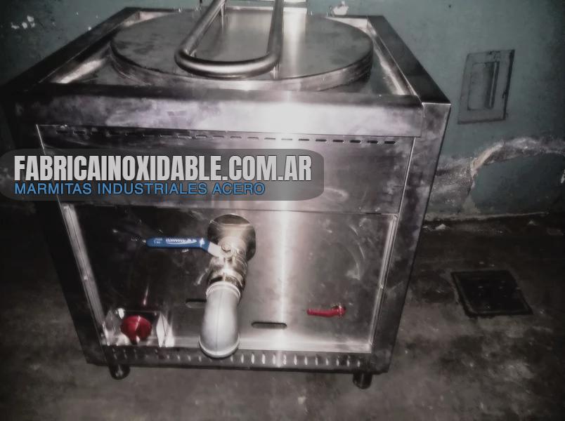 Marmita industrial gastronómica directa 75 litros acero
