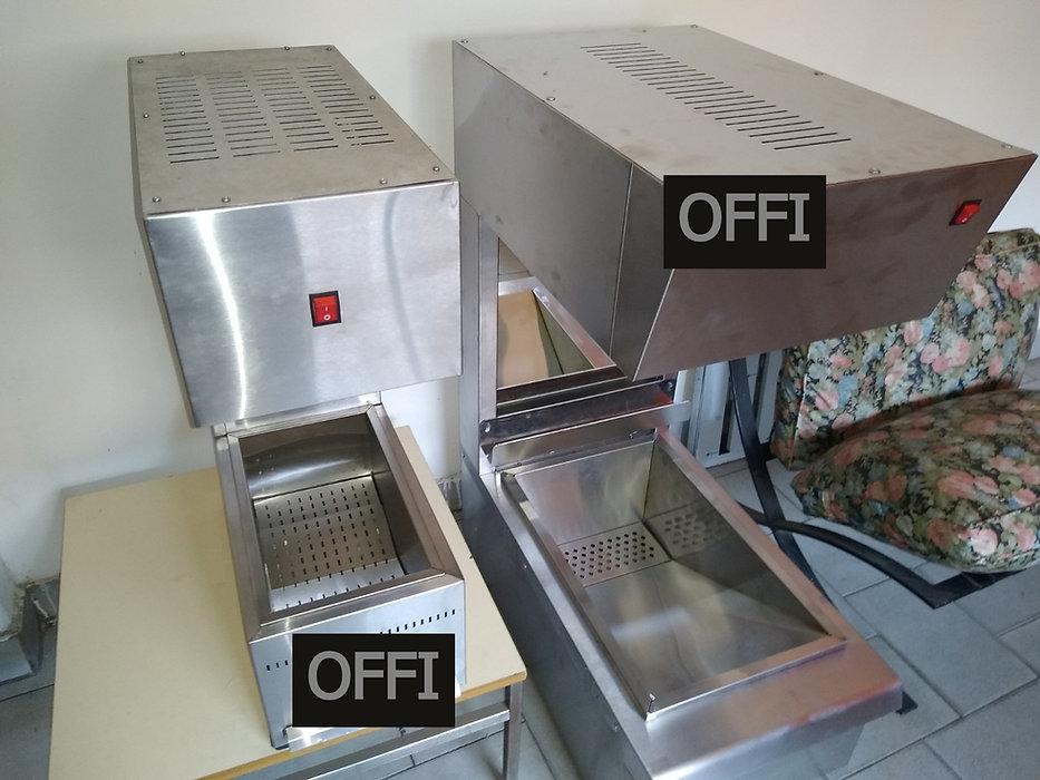 Estación de secado de fritos papas acero inoxidable lampara infraroja resistencia MGA