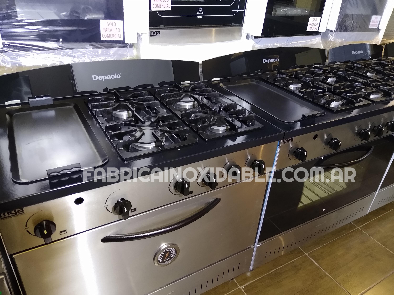 Fábrica de cocinas depaolo con plancha carlitera acero inoxidable lomitera horno lechonera
