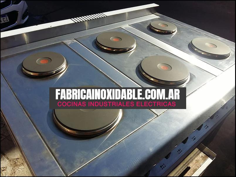Cocina eléctrica industrial 6 discos 1.10 metros